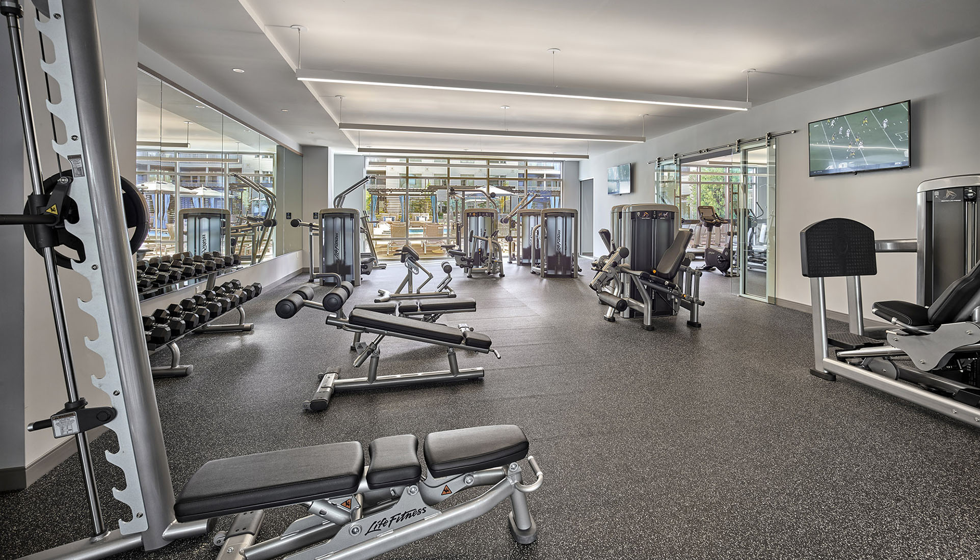 AVE Florham Park fitness strength facility