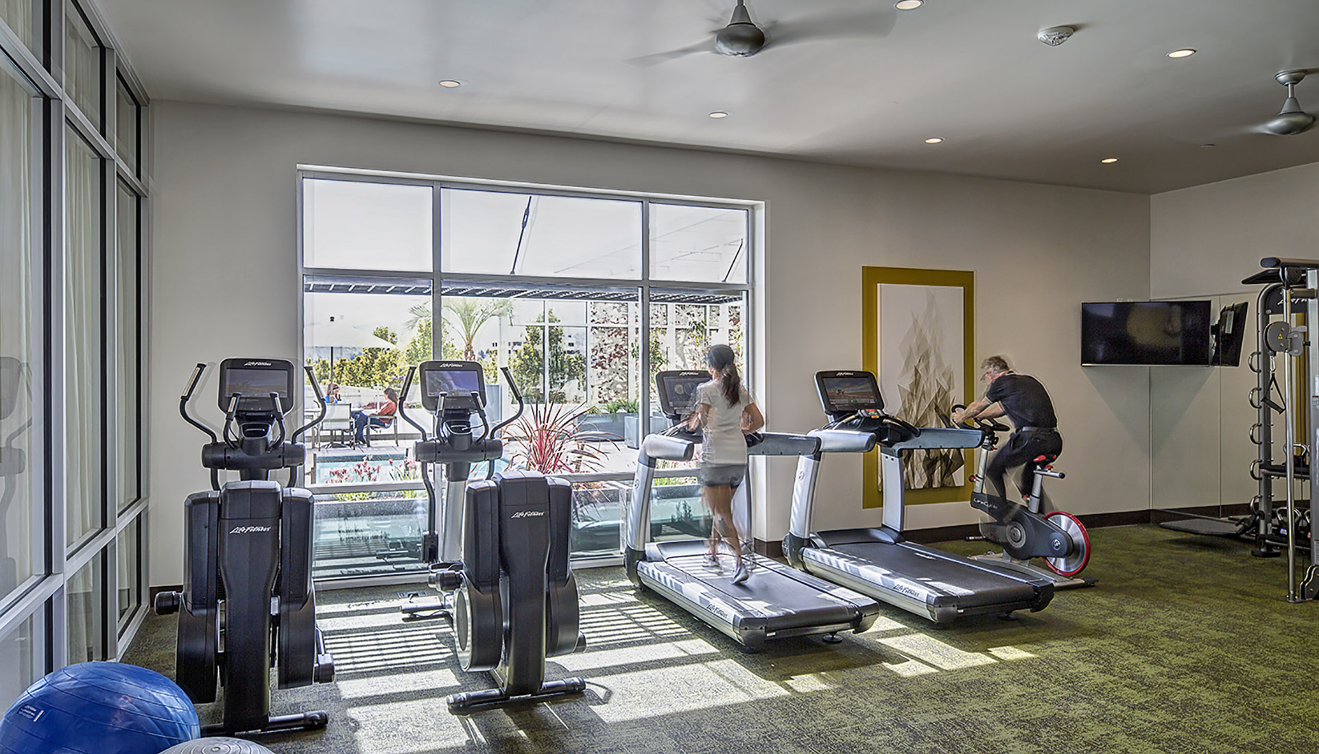 Luxury fitness center at AVE Walnut Creek