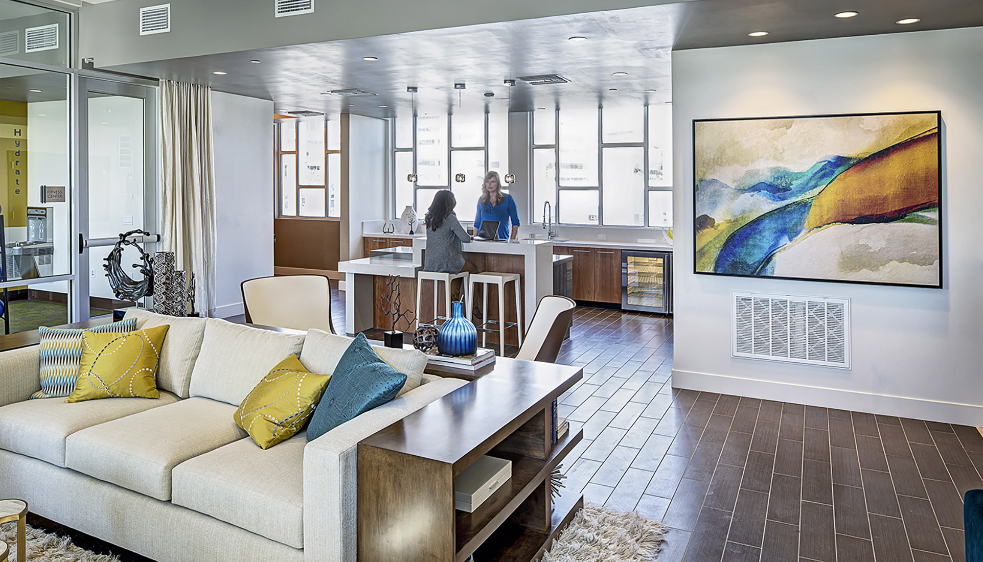Indoor lounge for AVE Walnut Creek residents