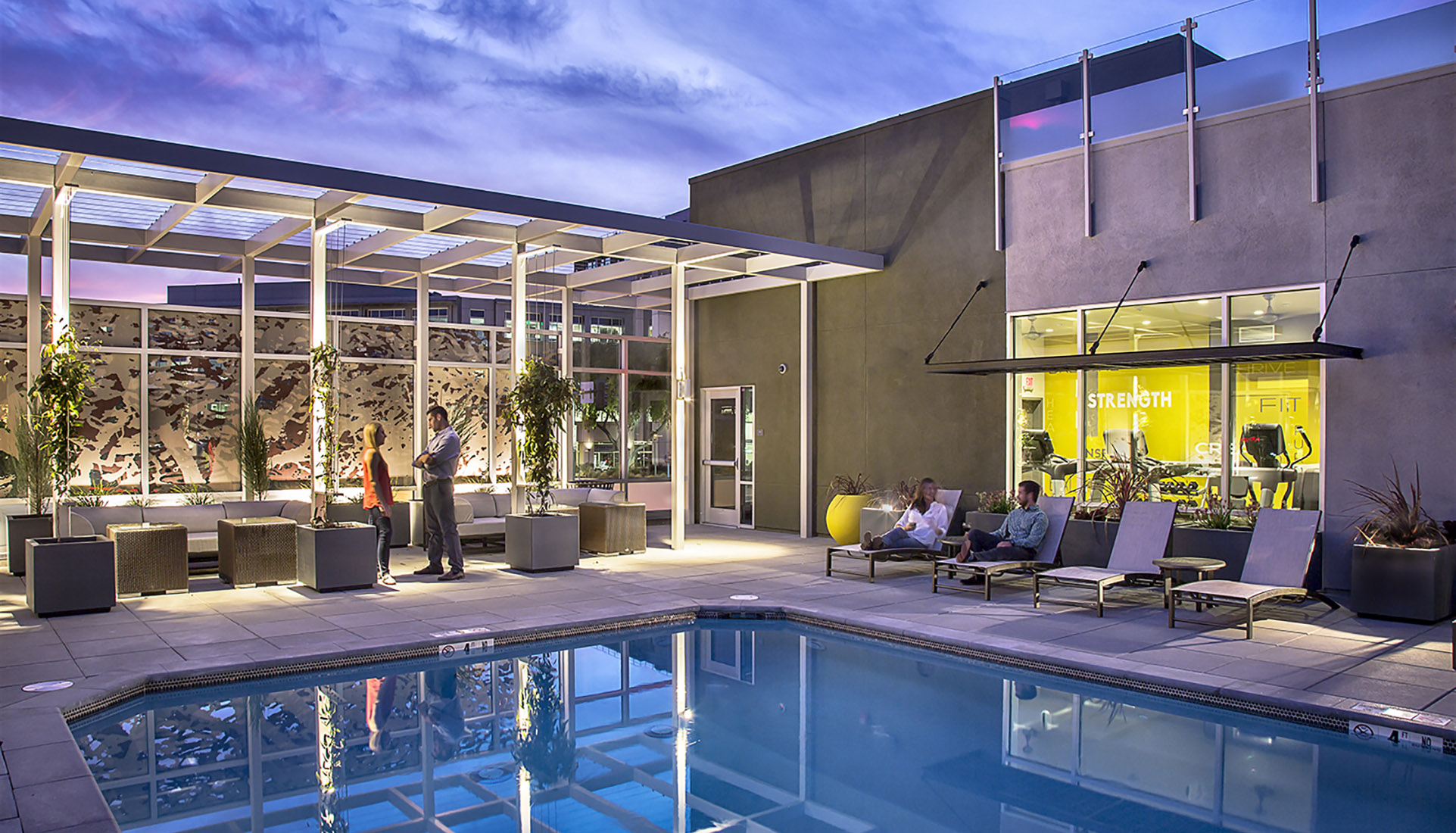 AVE Walnut Creek architect-designed outdoor resort pool