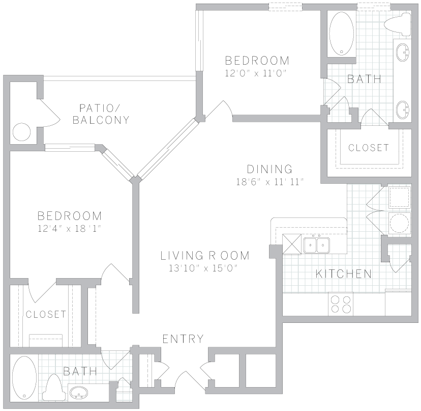 AVE Apartments Clifton, NJ: 1- & 2-Bedroom Apartment Types