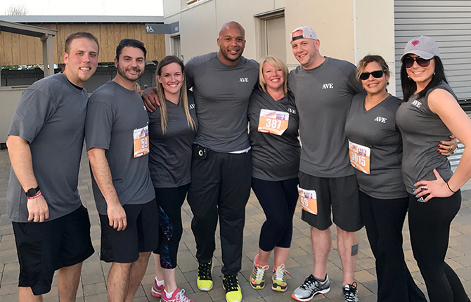 AVE team at Corporate FunRuns