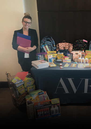 AVE Donates Over 1,000 School Supplies