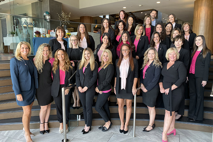 AVE Team wears pink in support of Breast Cancer Awareness Month