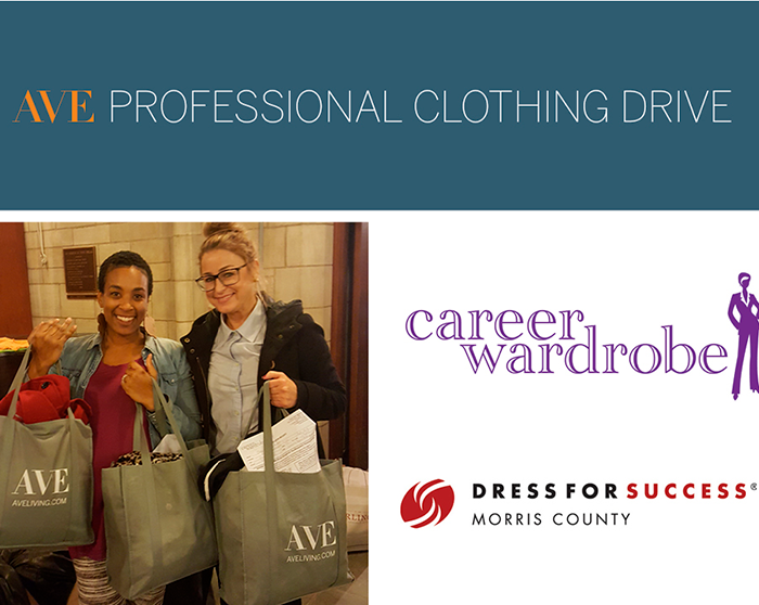AVE Donates 50 Boxes of Professional Clothing