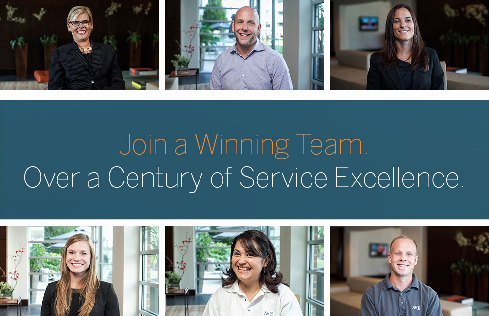 Self-motivated, Service-oriented Professionals Wanted! Join the AVE Team Today!