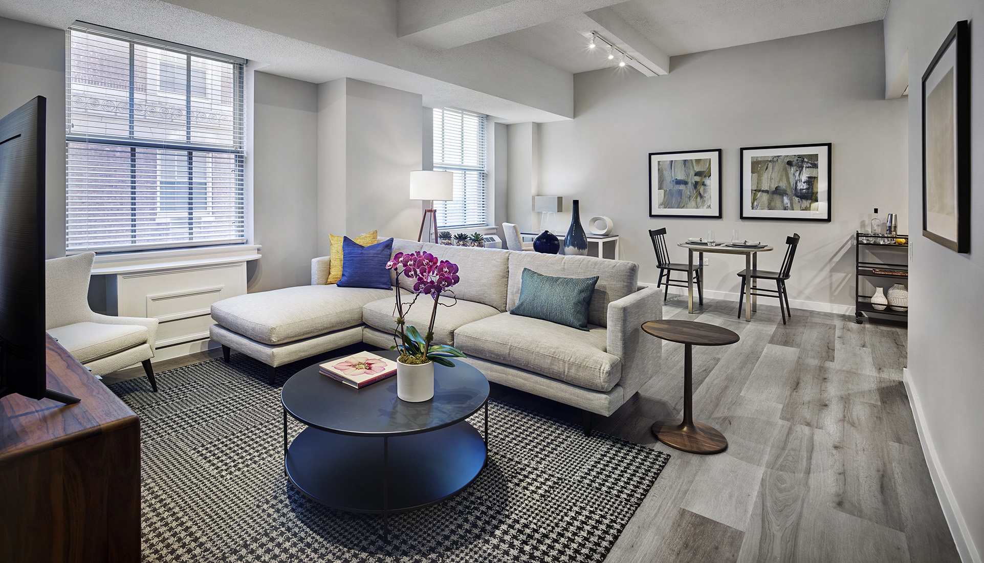 The Franklin Residences living room apartment